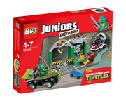LEGO JUNIORS 10669 TURTLE LAIR LA GUARIDA DE LAS TORTUGAS NINJA